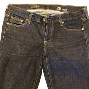 J. Crew  Matchstick Dark Wash Jeans 28S